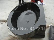 wholsale 71''L,black granite  high polish unique handmake craft , hot sale stone tubs unique artwork(China (Mainland))