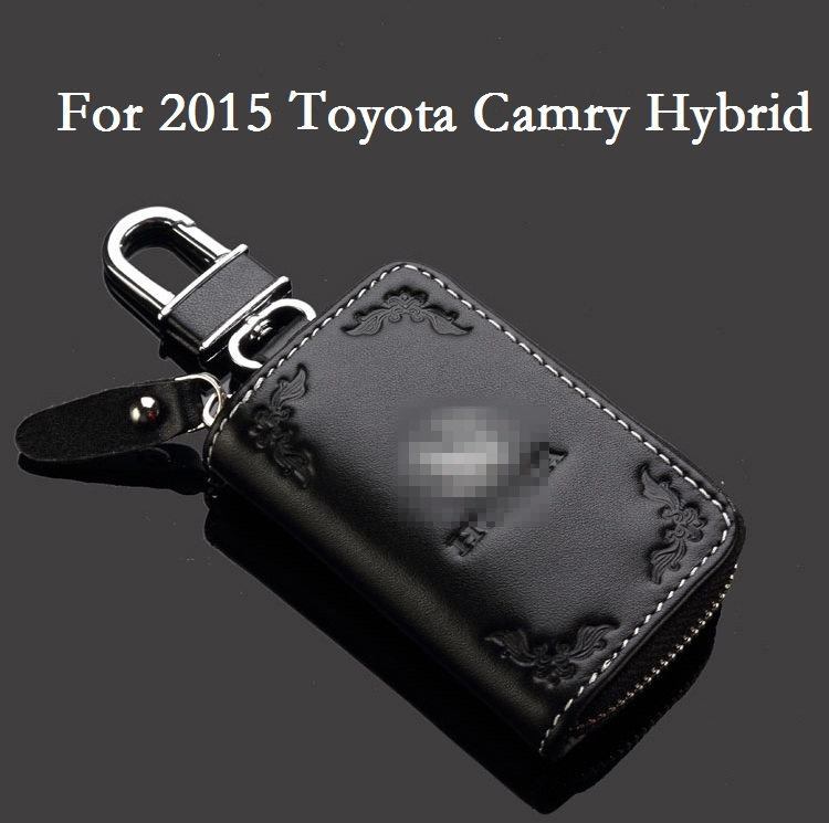 Auto Accessories 2016 Fashion luxury Leather Car Key Cases Wallet Key Bag Key Cover for 2015 Toyota Camry Hybrid(China (Mainland))