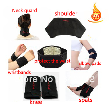 Tourmaline self-heating waist,support belt kneepad, neck wrist support shoulder pad ankle elbow 11 magnetic therapy set - Fashion technology shop store