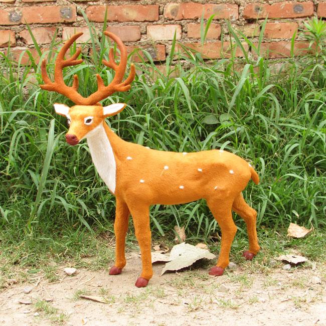Фотография big creative simulation deer toy handicraft standing deer doll gift about 41x52cm