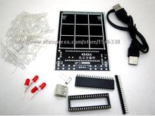 Diy 3D4S из светодиодов светло-куба с анимацией эффекты / 3D куб 4 4 x 4 x 4 3D из светодиодов / комплекты / младший, 3D из светодиодов дисплей, Рождественский подарок