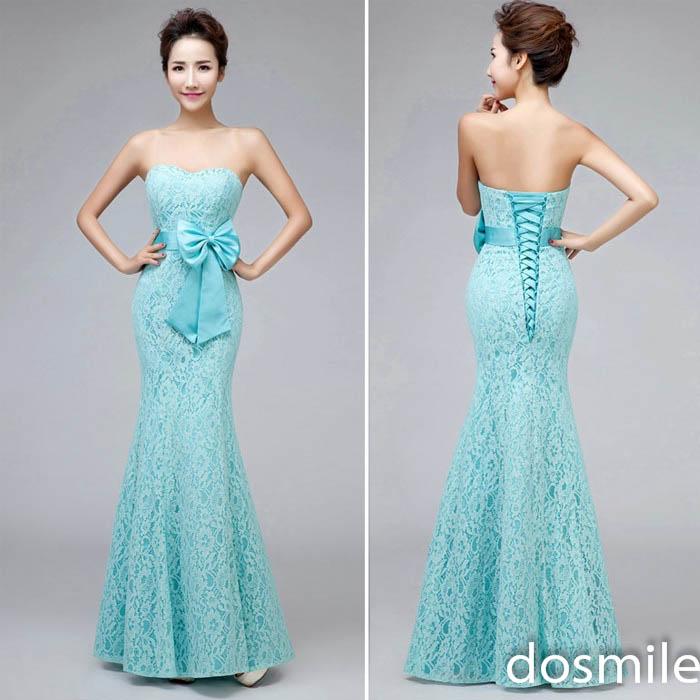teal mermaid wedding dresses