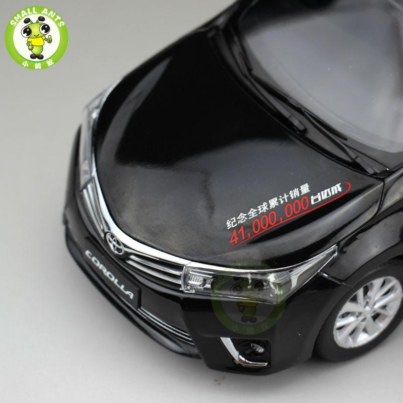 1:18 Toyota Corolla 41 Million Sales Commemorative Edition Diecast Model Car Black(China (Mainland))