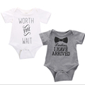 Newborn Baby Infant Toddler One Piece Girl Boy Bow Printed Jumpsuit Bodysuit Short Sleeve Clothes Free