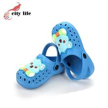 Cute Candy Color Garden Shoes Kids Hole Cartoon Animal Shoes EVA Clogs Sandals Slippers Discount(China (Mainland))