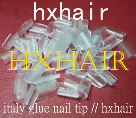 Freeshipping - 5000pcs Italy Glue Nail Tip / High Quality Glue Keratin / Transparent