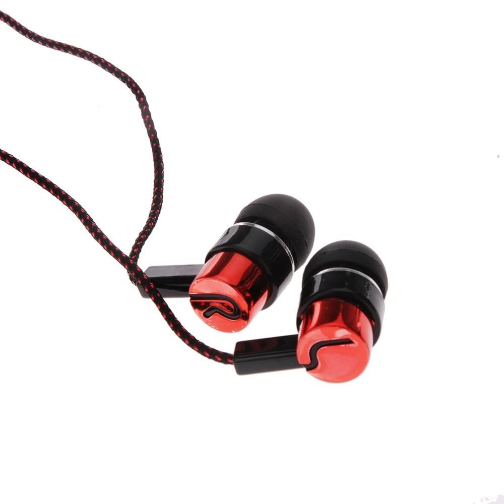 Earphones Jack Standard Noise Isolating 1.1M Reflective Fiber Cloth Line 3.5mm Stereo In-ear Earphone Earbuds Headphones