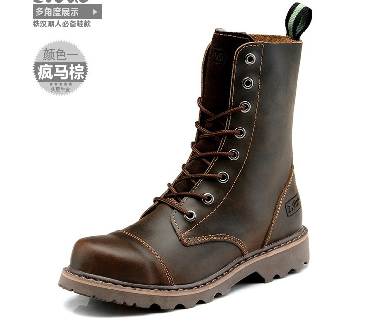 Mens High Top Leather Boots - Boot 2017
