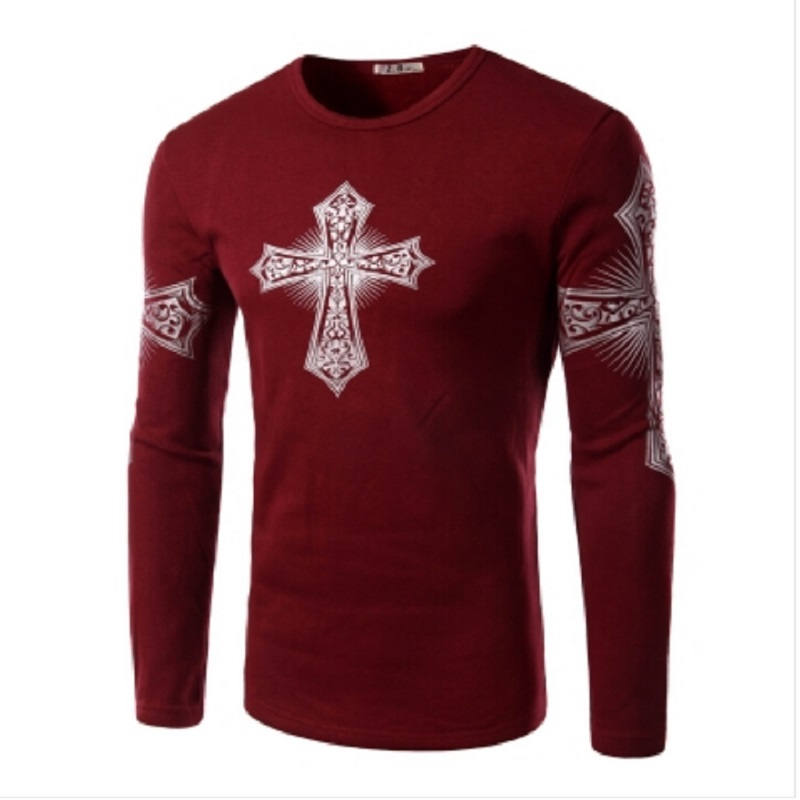 Hot sale velvet fleece warm t shirts long sleeve o neck for Thick material t shirts