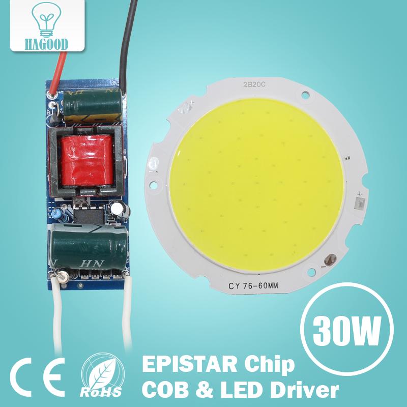 1pcs 3W 5W 7W 10W 12W 15W 20W 25W 30W COB Led Chip Board Panel for Led Spotlight Lamp + 110-240V Input LED Power Supply Driver(China (Mainland))