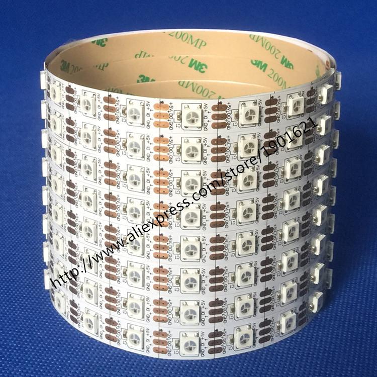 5M White PCB 5050 SMD 60led/m WS2812B WS2812 LED Dream Color Strip Light Non-waterproof 5V Digital Strip