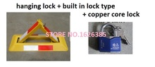 Built in lock with copper core lock Triangle Car Parking lock parking space protector car protector parking(China (Mainland))