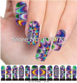 10sheets/pack Nail Art Water Transfers Stickers nail tips Decals M1-073