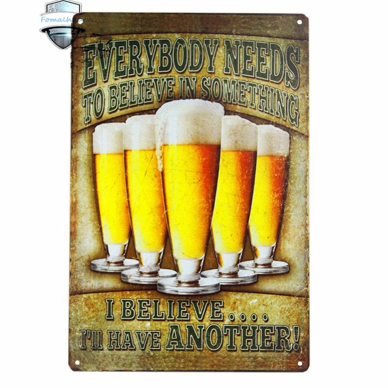 Bar Vintage Metal Painting Everyone Needs Something Beer Tin Sign Poster Home Decor Pub Wall Custom Neon Sign Lightbox Feyenoord(China (Mainland))