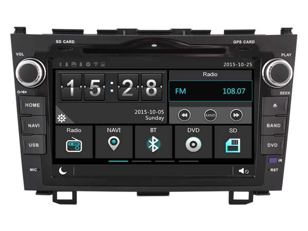 Car Gps Dvd Head Unit Radio for Honda Crv 2006-2011 Navigation Phone Mirror Multimedia 3G WIFI DVR 1080P Navi After market(China (Mainland))