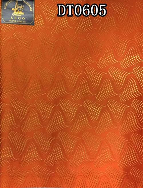 Latest orange sego headtie African head tie,super jubilee Nigeria Gele DT0605(China (Mainland))