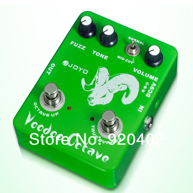 JOYO JF-12 Electric Guitar Bass Dynamic Compression Fuzz Ultimate Voodoo Octave Distortion Effect PedalFree Shipping(China (Mainland))