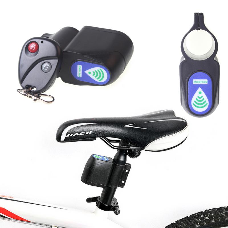 2016 Bicycle Lock Cycling Bike Security Wireless Remote Control Vibration Alarm Anti-theft Lock Black Useful Free shipping(China (Mainland))