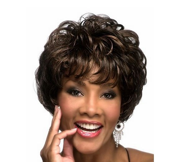 2015 New Free hairnet Short Curly Synthetic hair Wigs Peluca Peruca Full Wig wigs black women cheap - Honesty Small World store