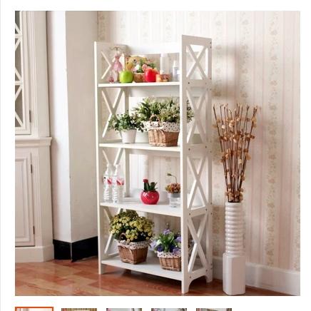 C Pastoral Korean ivory white single bookcase shelf bookcase simple grid minimalist shoe Specials<br><br>Aliexpress