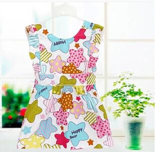 3pcs/lot Fashion girls feeding apron overclothes waterproof kids infant art smock princess painting clothes(China (Mainland))