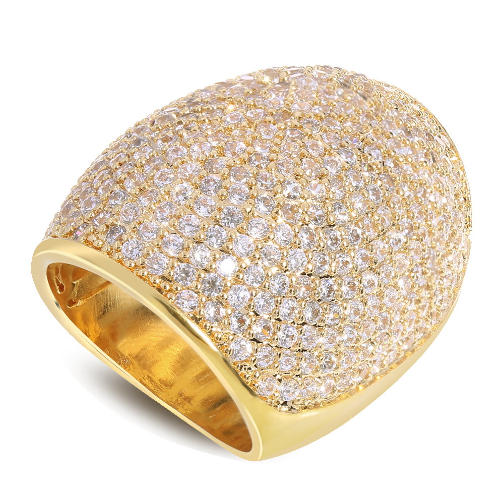 Gorgeous ring AAA zircon rings platinum Sparkly clear Zircon Ring with 18K Gold plate and White Gold Plated