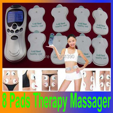 Electronic Body Massager Health Slimming beauty electric Tens neck back foot cupping Acupuncture Therapy Machine Massage Devie(China (Mainland))