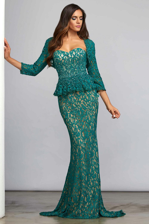 Long Emerald Green Mother Of The Bride Dresses - Flower Girl Dresses
