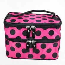 10 X Retro Dot Beauty Case Makeup Large Cosmetic Set Toiletry Bag Womens