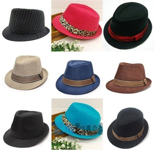 Baby Kid Fedora Hat Jazz Cool Toddler Boy Girl Cap Photography Top Cotton Trilby