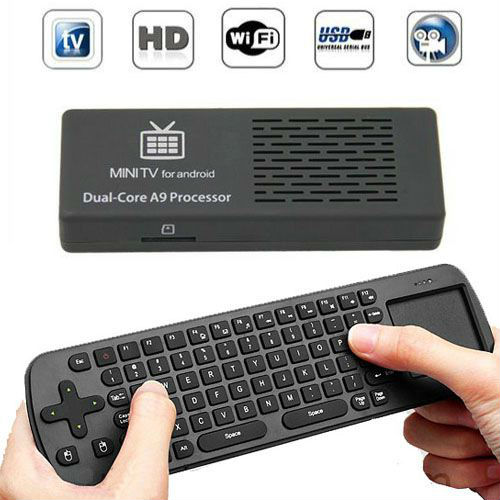 Newest MK808 Android 4.1 Jelly Bean Mini PC RK3066 A9 Dual Core Stick TV Dongle UG802 III 1G / 8G for HDTV with Remote Control(China (Mainland))