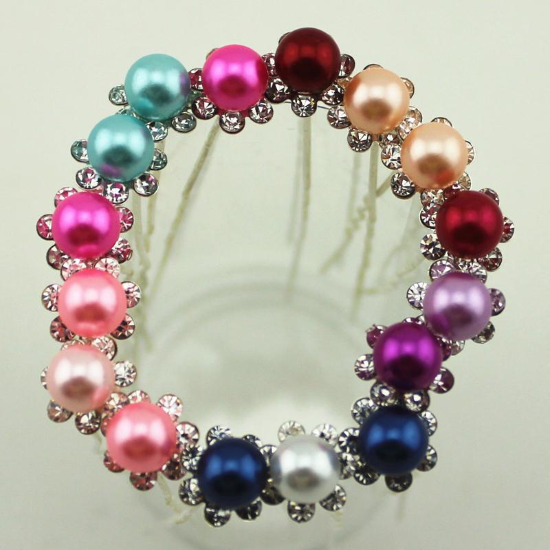10Pcs/Lot Wedding Accessories Romantic Bridal Pearl Flower Crystal HairPins Bridesmaid U Pick Tiara Jewelry Hair Clip(China (Mainland))