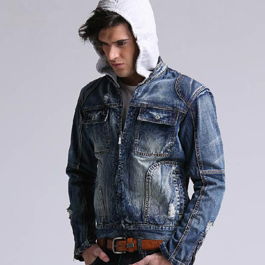 Hoodie And Jean Jacket - My Jacket