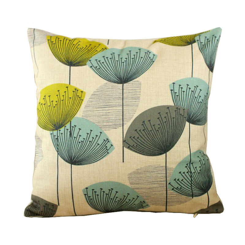 Home Decor 3D Printed Hand Painted Plant Cotton Linen Throw Pillow Case Back Cushion Cover For Sofa Chair 45*45cm Free Shipping(China (Mainland))