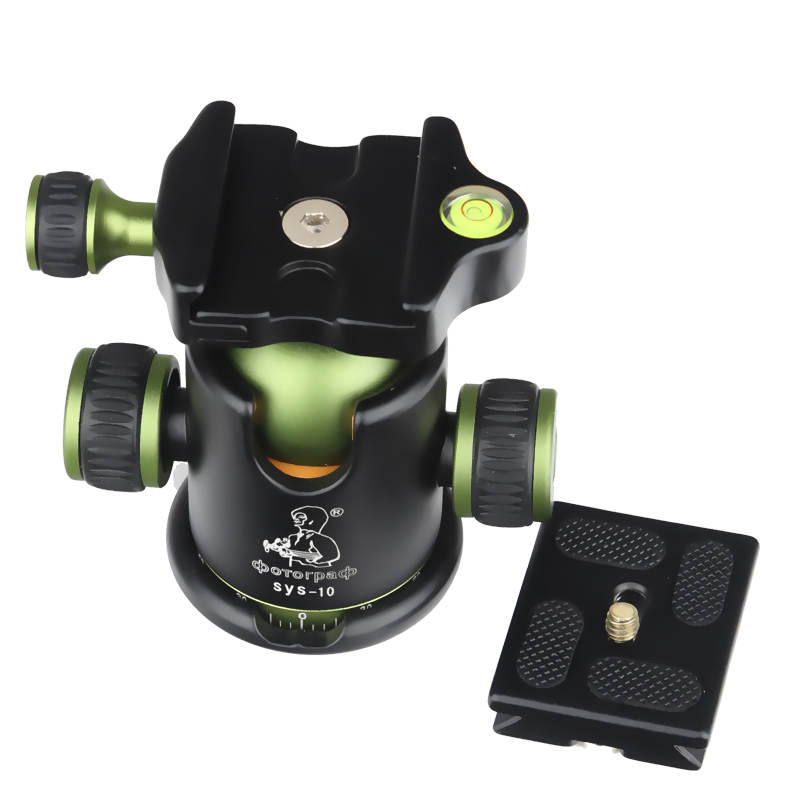 New DPOTORPADP SYS10 Aluminum Camera Tripod Ball Head Ballhead 36mm Diameter with Quick Release Plate 1/4 Screw Max Load 10KG<br><br>Aliexpress