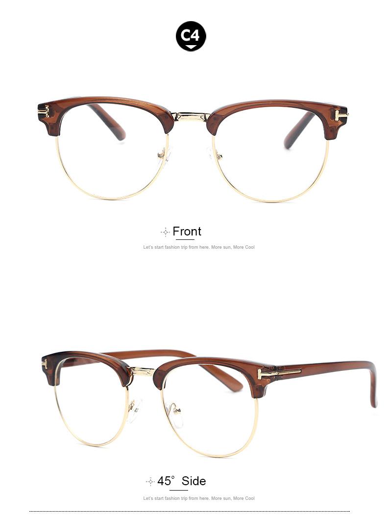 Compre Al Por Mayor Nuevo Diseñador Gold Semi Rimless Men Eyeglasses ...
