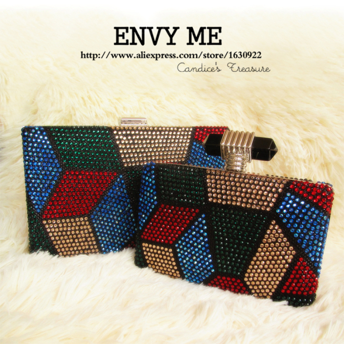 Crystal Purse Patchwork National bolsos india Evening Clutch Indian Bead Bags Ladies Clutch Bags(China (Mainland))