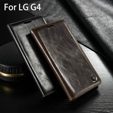 Luxury Original Brand For Flip Cover LG G4 Case Genuine Real Leather Wallet Card Holder High Quality Phone Case Accessories