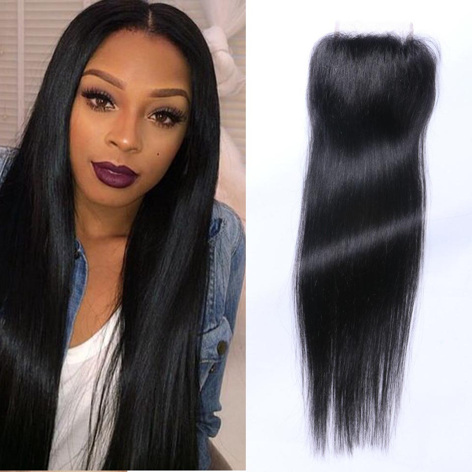7A Cheap Brazilian Lace Closure Bleached knots Virgin Human Hair Brazilian Straight Closure,Free Mid 3 Part Lace Front Closures<br><br>Aliexpress