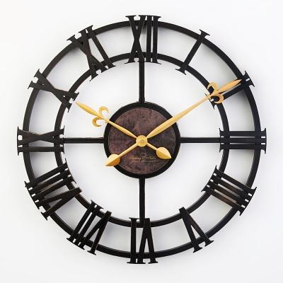 17 Inch Vintage Large Decorative Wall Clock Roman Numeral Fashion Silent Deco