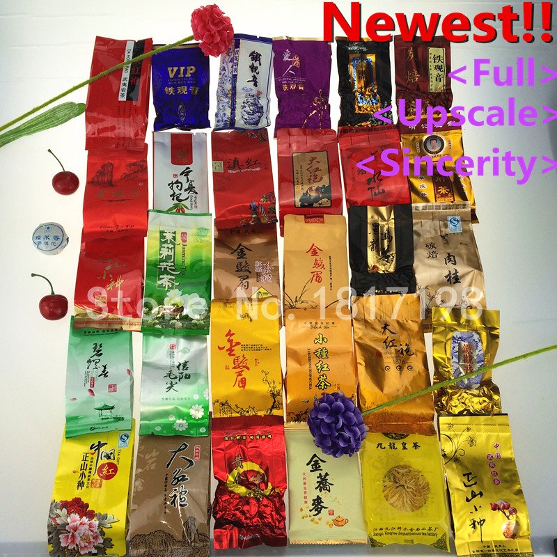 2015 New 31 Different Flavors Famous Tea Chinese Including Oolong Puer Milk Herbal Flower High Quality