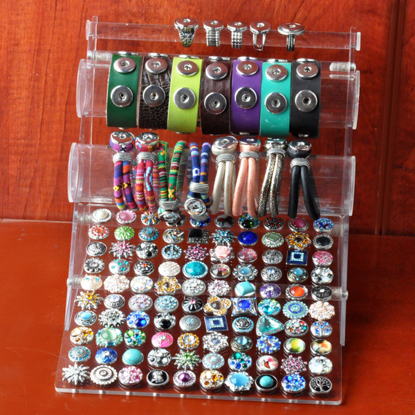 P00629  Newest snap button bracelet display fot 12mm 18mm 20mm button and bracelet  for 100pcs(without button,bracelet)(China (Mainland))
