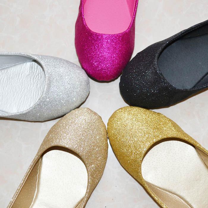 Гаджет  2015 Fashion Sparkling Glitter Flats Shoes Women/Casual Ballet Shoes Female/Slip on Women