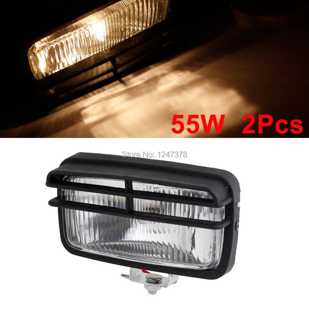 16.5cm x 9cm x 8cm (L*W*H) 2 Pcs/lot Clear Glass DC 12V 55W Auto Car H3 Yellow Halogen Lamp Fog Light Headlamp universal(China (Mainland))