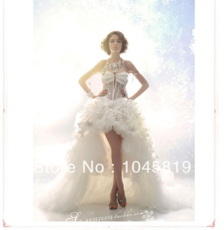 Wedding dress 2014 new high end luxury version of crystal for High end wedding dress