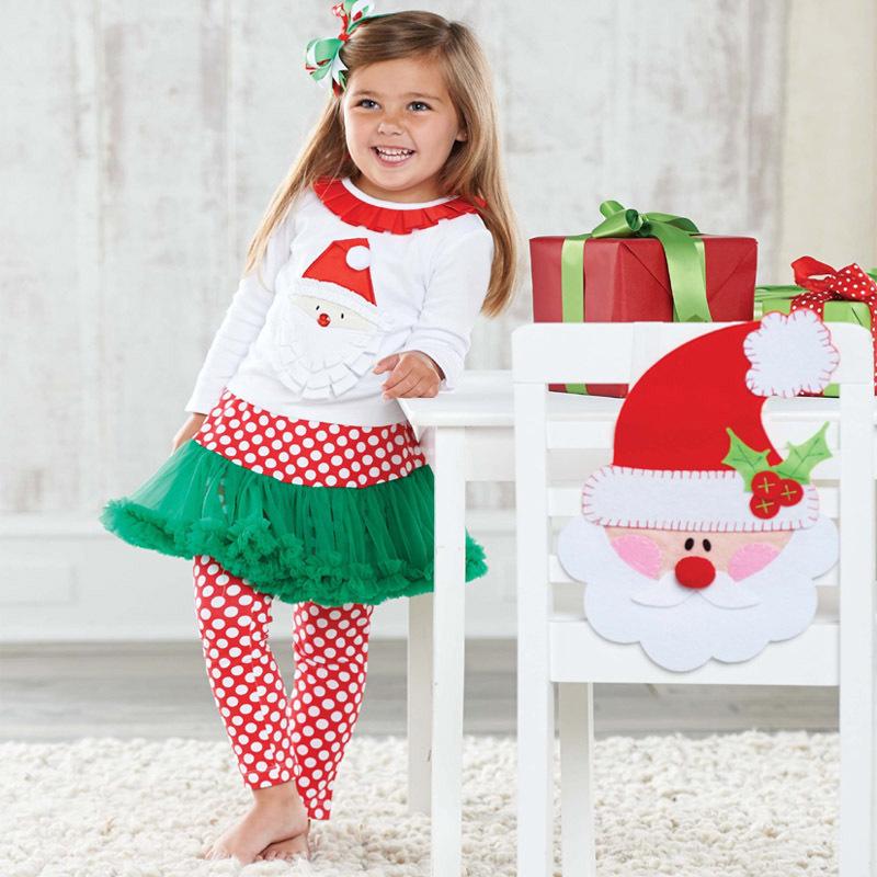 Autumn boutique outfits girls pcs christmas clothing