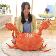 Buy 2017 New Coming 1PC 90X65Cm 3D artificial Crab plush Toy Crab cloth doll pillow Cushion Kids stuffed plush birthday gift for $41.33 in AliExpress store