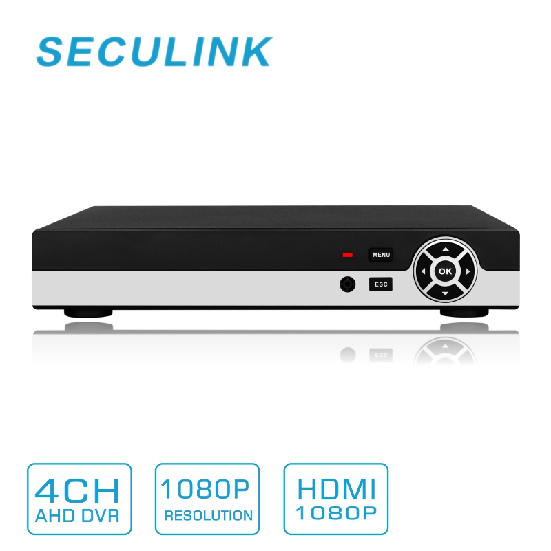 SECULINK 4 Channel AHD-H 1080P DVR Video Recorder Support 2.0MP 1080P AHD Cameras with 4 Channel Audio Input(China (Mainland))