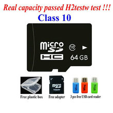 free shipping wholesale memory card  2GB 4GB 8GB 16GB 32GB 64GB high speed class 10 micro sd hc card + Free adapter + USB reader