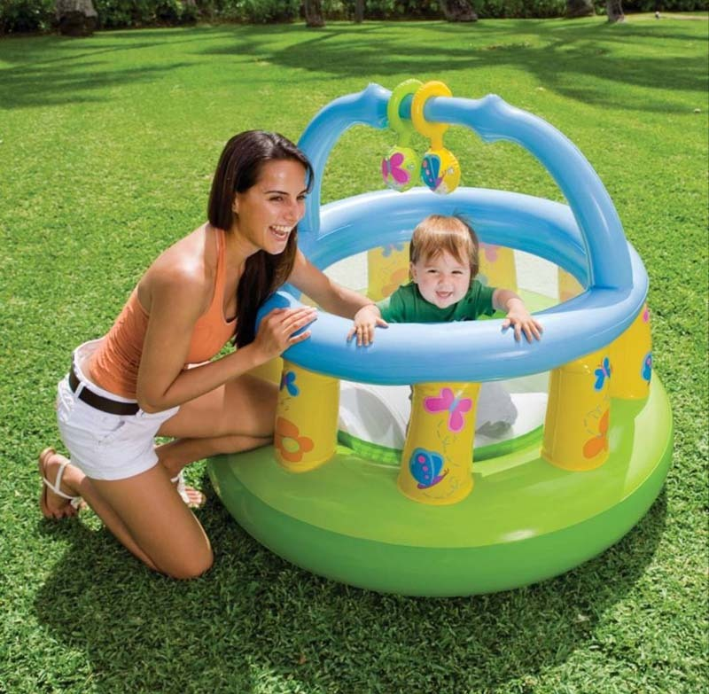 Intex48474 baby sports toy ball pool game inflatable trampoline naughty fort(China (Mainland))
